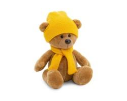 Медведь Топтыжкин шапка/шарф 17см коричневый арт.MA1995/17