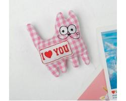 Игрушка-магнит котик I love you