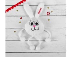 Игрушка-магнит зайчик с лапками Люблю