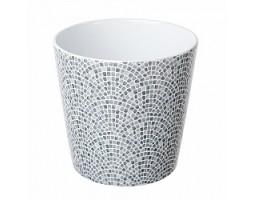 Кашпо Мозайка (керамика) D14см серый