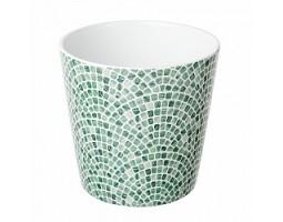 Кашпо Мозайка (керамика) D14см зеленый