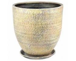 Горшок Бутон Текстура 37см бежевый арт.58-522