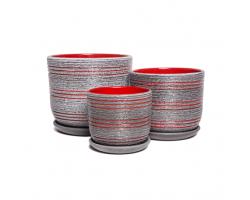 Бук Лофт серый+красный (наб.3шт)