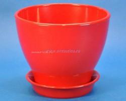Горшок Ксения 1,5л красный