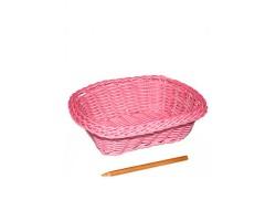 Корзина пластик 10/01-61 прямоугольная 18*14*6см розовая