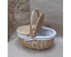 Корзина плетеная для пикника (ива) 40*29*Н18.5/38,5см 5500011768038