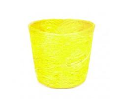Кашпо из сизаля круглое 10*12см лимонный