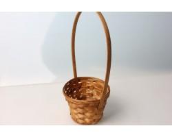 Корзина плетеная (бамбук) D13*H9.5/28см коричневый