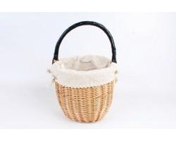 Корзина плетеная (ива,ткань) 25*Н20см натуральный