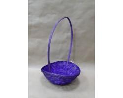 Корзина плетеная (бамбук) D19*H5/31см фиолетовый