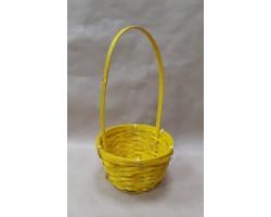 Корзина плетеная (бамбук) D17*H10.5/33см желтый