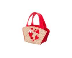 Сумочка декоративное Сердечки (фетр/джут) 16.5*8,5*9,5см арт.10731