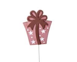 Вставка Подарок 8*Н20см розовый арт.FH18696D