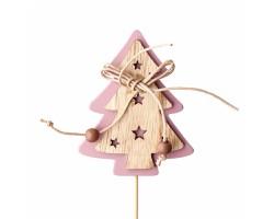 Вставка Ёлочка 7*Н20см натуральный+розовый арт.FH18703D