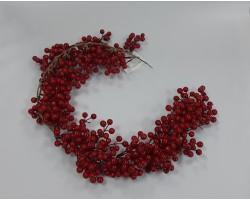 Гирлянда с ягодами 98см красный арт.A0400-5