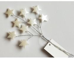 Вставка со звездами Н20см белый арт.WHF9334
