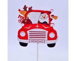 Вставка Машина 7*H20см красный арт.FH19608R