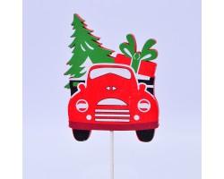 Вставка Машина 7*H20см красный арт.FH19609R