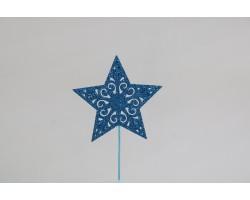Вставка Звезда с глиттером 8*H20см синий арт.19HHF5836BLG