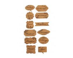 Аксессуар для декора 22/X10-03 набор из 24 wishcard крафт нов.год - новогодние пожелания (5-9см)