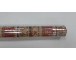 Бумага крафт дольче экошик 22/X02-20 Рождественский олень на красном 70см*10м