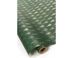 Бумага капелла 20/X13-45 Елочки на зеленом 70см*10м