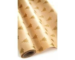 Бумага крафт дольче натура 16/X02-75 Елочки золотые 70см*10м