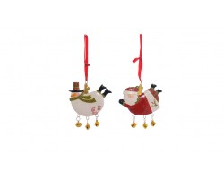 Елочная игрушка-подвеска (керамика) 8*0,5*6см арт.CC1611015