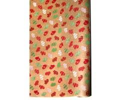 Бумага крафт 15/X01-20 дольче натура Варежки красно-зеленые 70см*10м