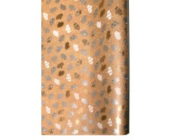 Бумага крафт 15/X01-70 дольче натура Варежки серебряные 70см*10м