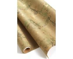 Бумага крафт 22/X04-45 дольче экошик Винтажный олень на зеленом 70см*10м
