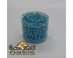 Бусы на бобине 011/50 D8мм*5м металл голубые