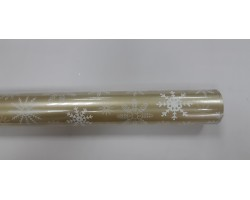 Бумага капелла 41/X601-75 Снежинки на золотом 100см*10м
