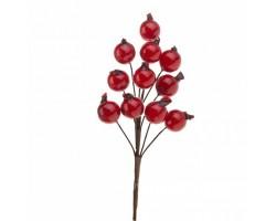 Ветка ягодная искусственная 16см красный арт.TYL20-238A-1
