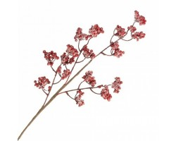 Ветка ягодная искусственная 75см красный арт.TY37-194820