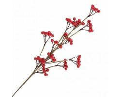 Ветка ягодная искусственная (пластик) 63.5см красный арт.JS42847