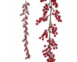 Гирлянда ягодная искусственная (пластик) 150см красный арт.JS55132