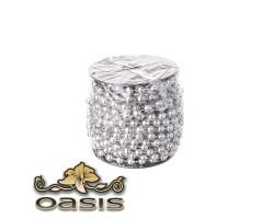 Бусы на бобине 8мм*10м серебро арт.GARL/S