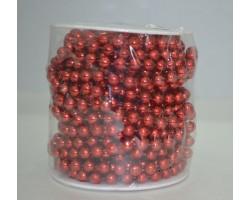 Бусы метализированные на бобине красный арт.84344