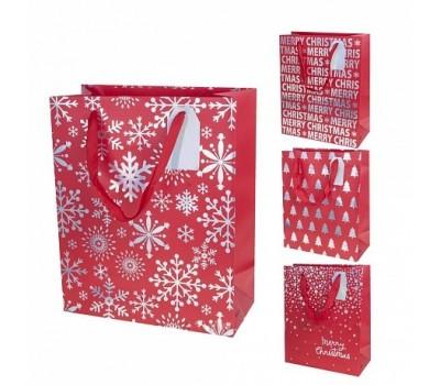 Пакет подарочный Merry Christmas (бумага) 18*10*Н23см