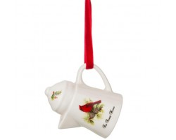 Декоративное изделие Кофейничек (керамика) FOR SWEET HOME птичка кардинал 7,5*7*5,5см 229-157