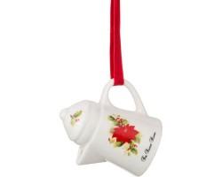 Декоративное изделие Кофейничек (керамика) FOR SWEET HOME пуансеттия 7,5*7*5,5см 229-158