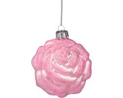 Декоративное изделие Шар стеклянный 8*9*4см розовый 862-061