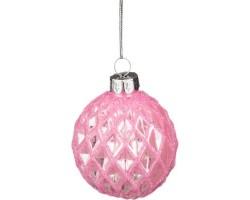 Декоративное изделие Шар стеклянный D6*H7см розовый 862-069