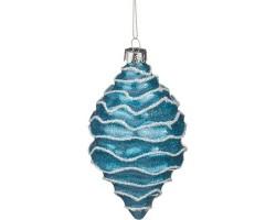 Декоративное изделие Шар стеклянный 7*13см голубой 862-083