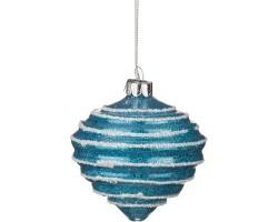 Декоративное изделие Шар стеклянный D8*H9см голубой 862-087