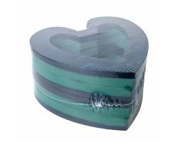 Сердце Oasis 21,5*22*3см с фиксирующим кольцом (2шт) арт.3087