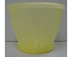 Горшок Знатный полупрозрачный желтый с/п D14см 1,0л