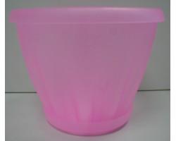 Горшок Знатный полупрозрачный розовый с/п D14см 1,0л