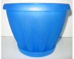 Горшок Знатный полупрозрачный синий с/п D14см 1,0л